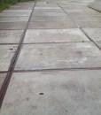 Betonplaten met rand