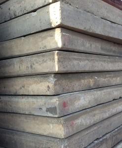 Betonplaten zonder rand